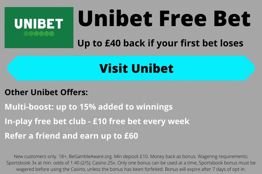 Unibet sign-up bonus