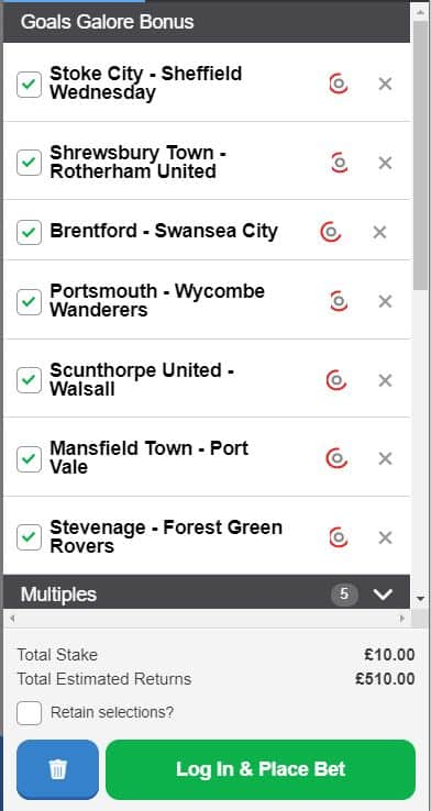 Goals Galore tips