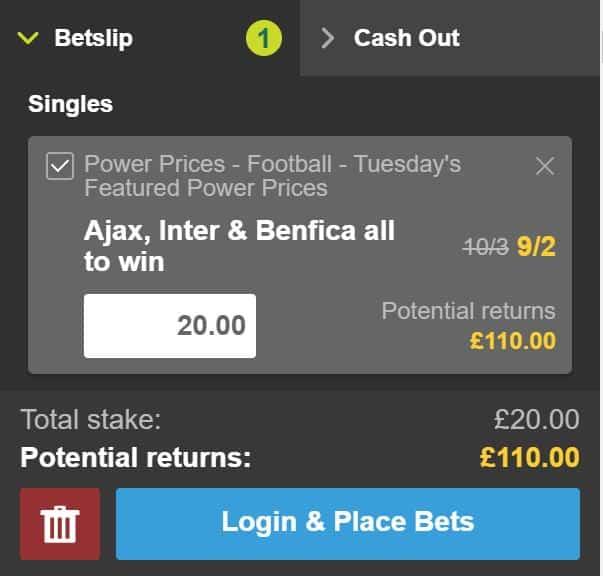Champions League bet