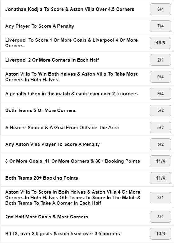 Aston Villa Liverpool Pickyourpunt