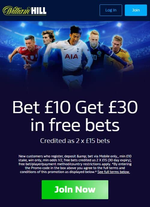 William Hill sign-up offer