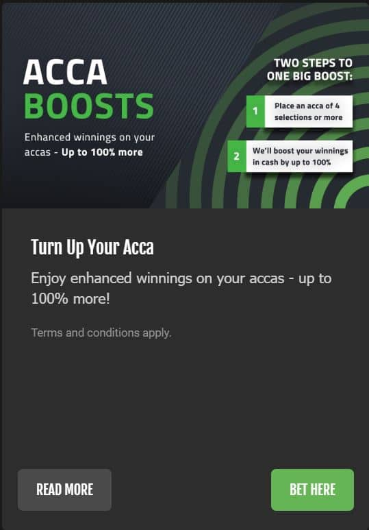 Acca boost FansBet