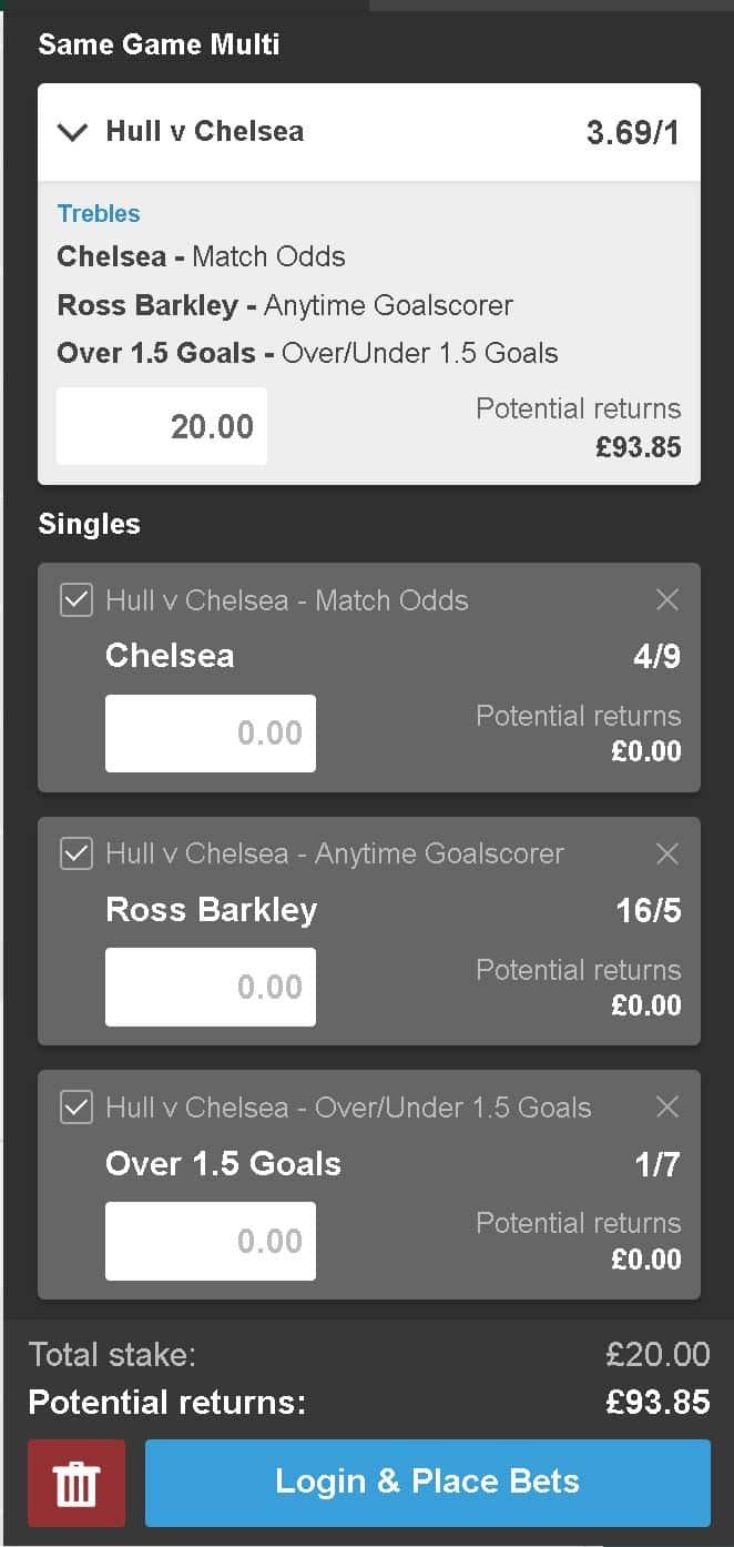 Hull vs Chelsea bet tips