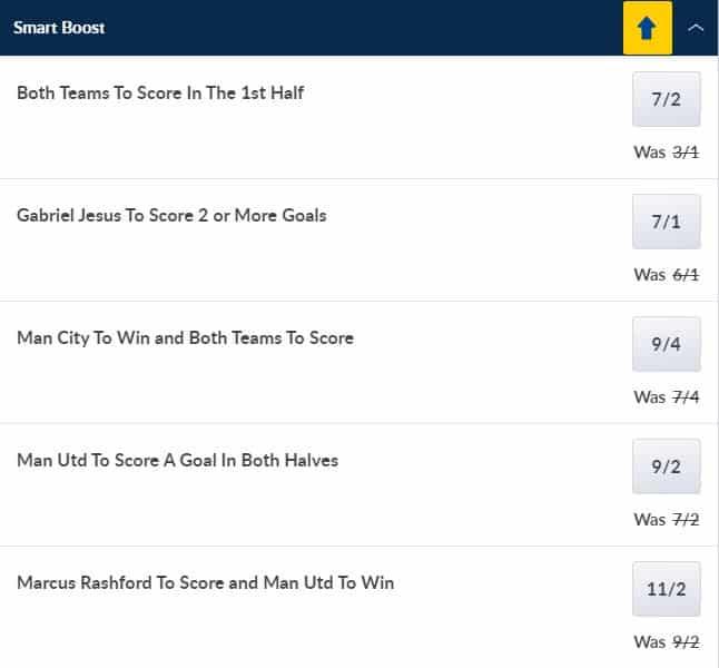 Man United vs Man City boosts