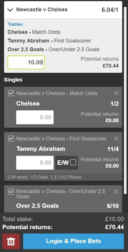 Newcastle vs Chelsea tips