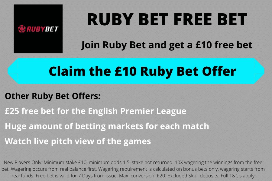 Ruby Bet free bet offer