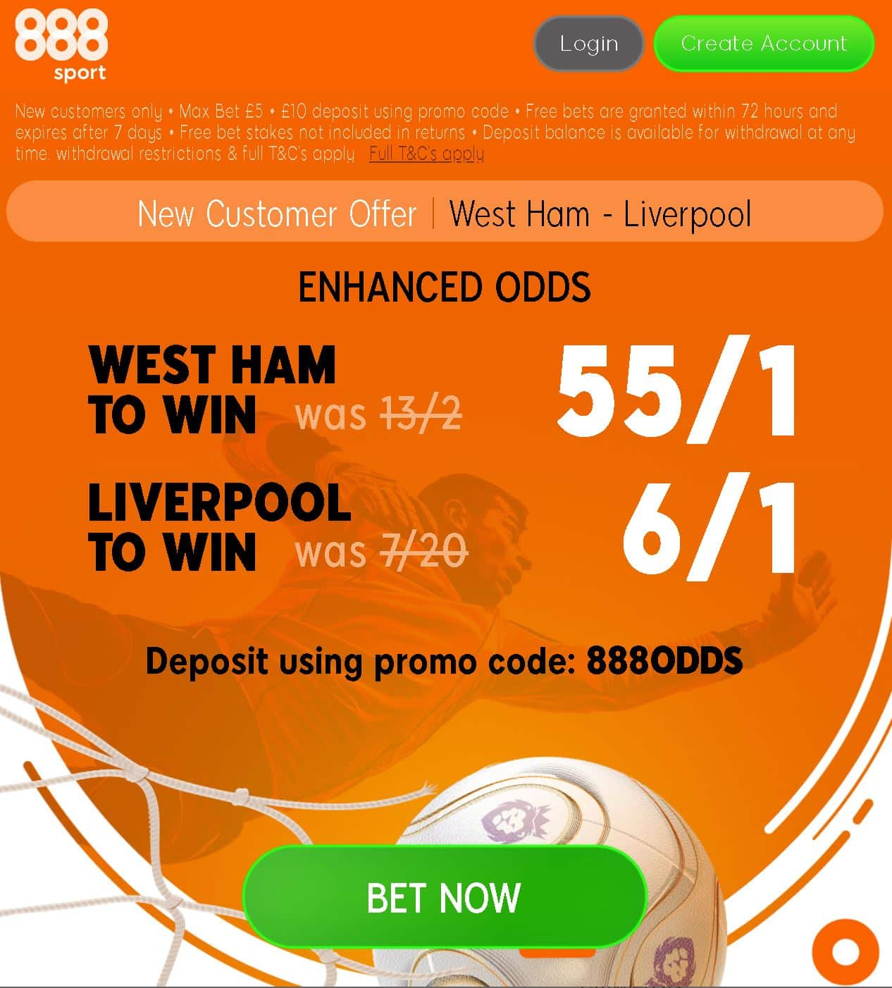 West Ham vs Liverpool odds