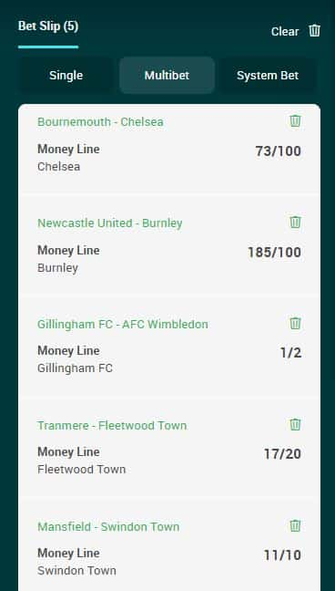 Accumulator tips 29th February