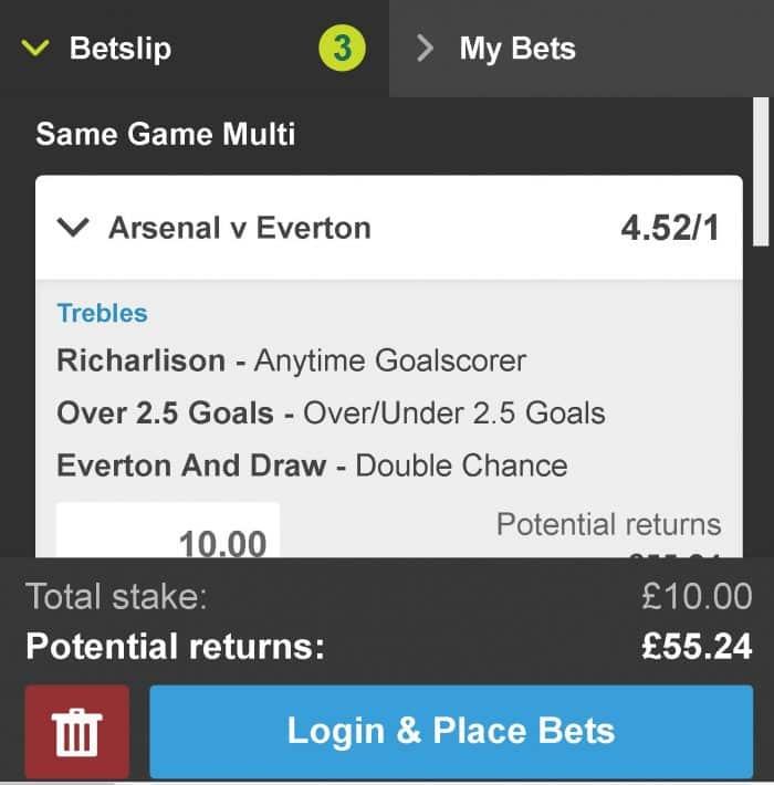 Arsenal v Everton tips