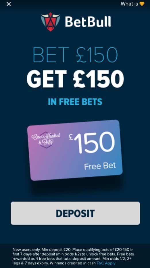 BetBull new customer free bets