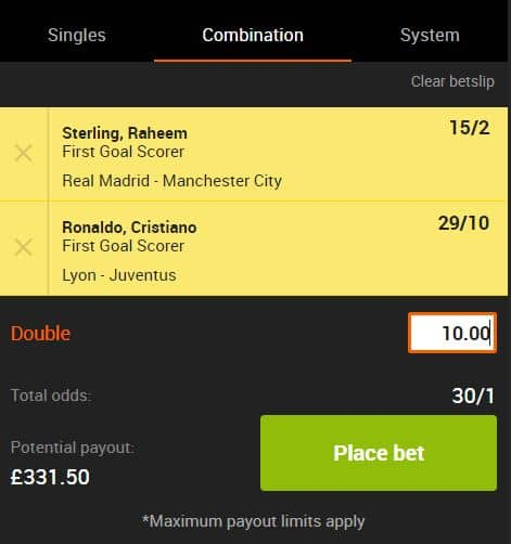 Champions League tips