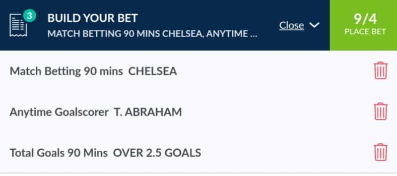 Chelsea v Tottenham betting tips
