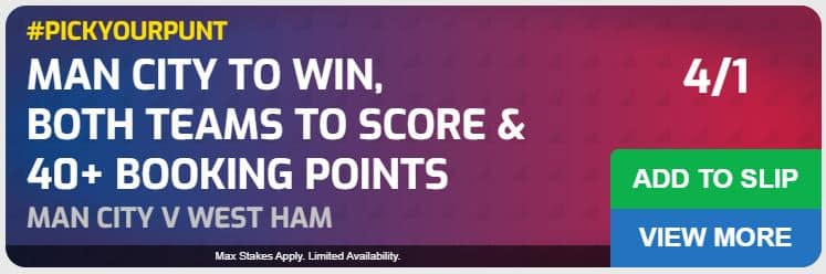 Man City vs West Ham betting tips