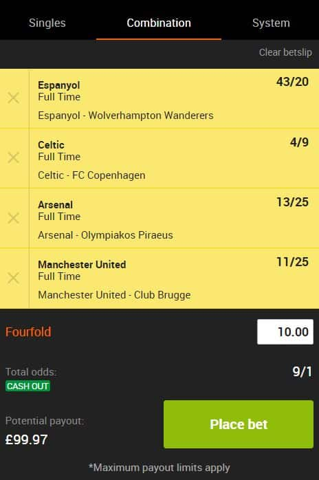 Europa League acca tips