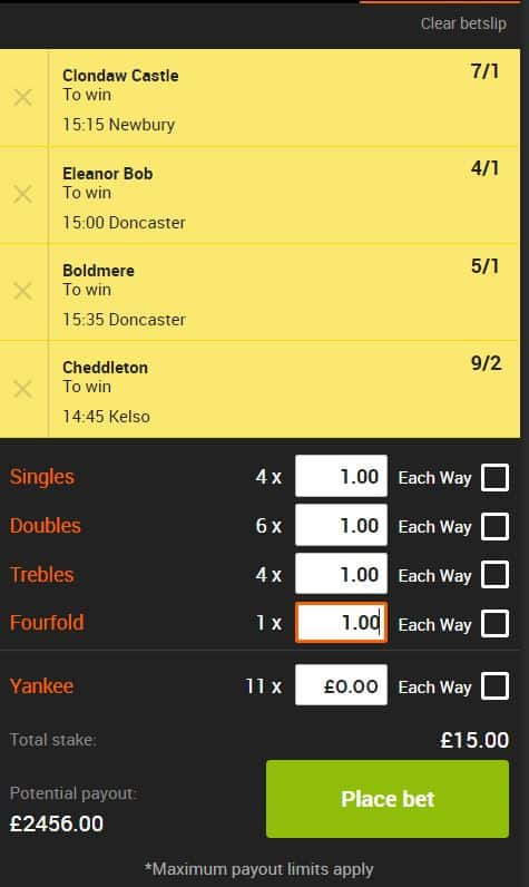 Saturday lucky 15 tips