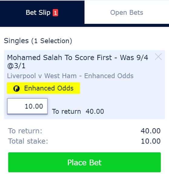 Mo Salah first scorer