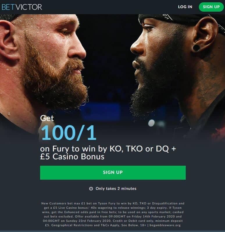 Tyson Fury odds vs Wilder