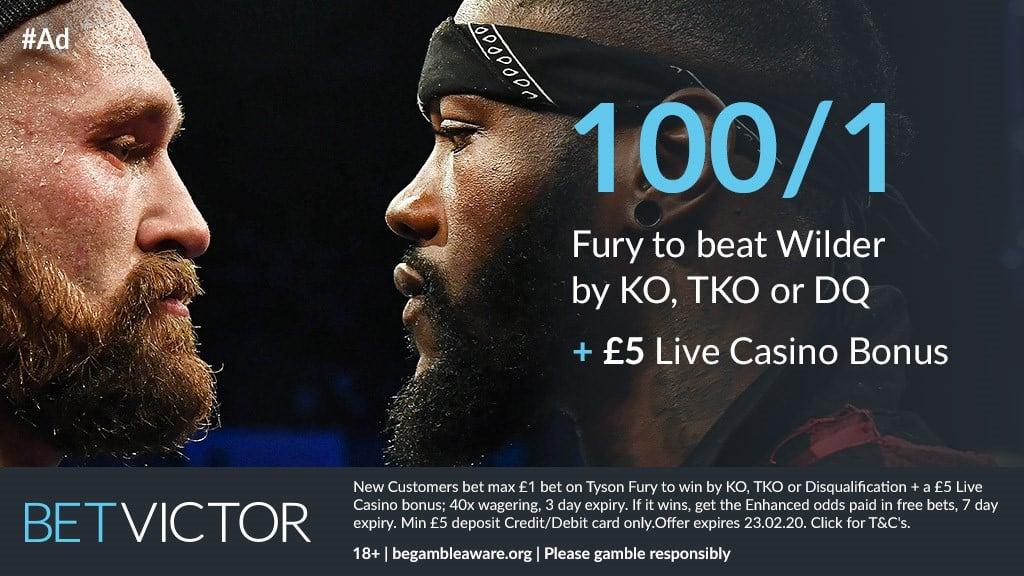 Tyson Fury odds to beat Wilder