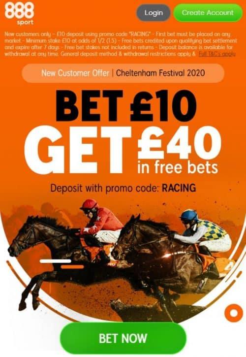 888Sport Cheltenham offer