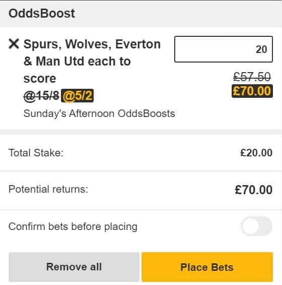 Both teams to score tips