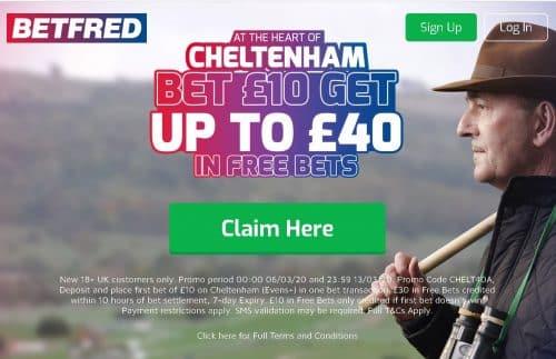 Betfred Cheltenham free bet