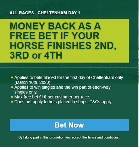 Cheltenham Festival Money Back Special