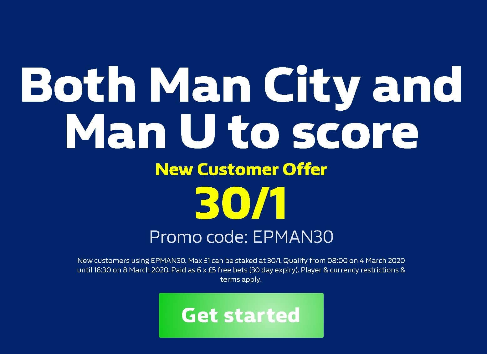 Man United v Man City BTTS