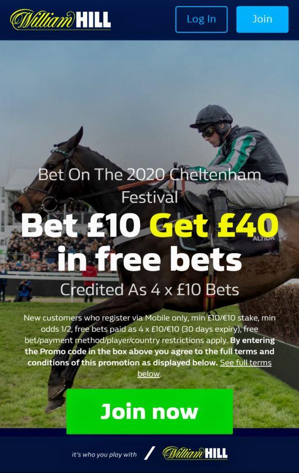 Cheltenham free bets