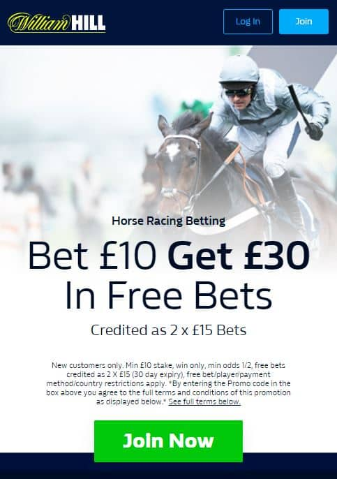 William Hill Cheltenham free bet