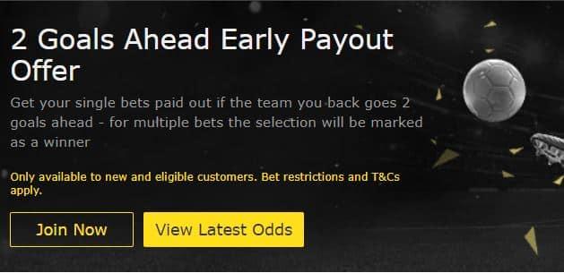 bet365 2 up offer