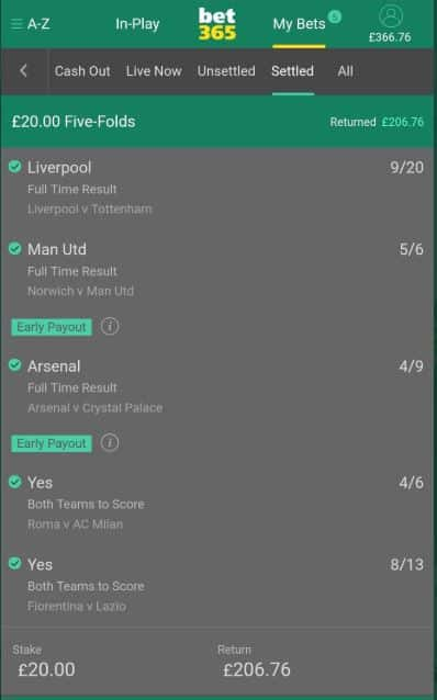 bet365 2 up accumulator example