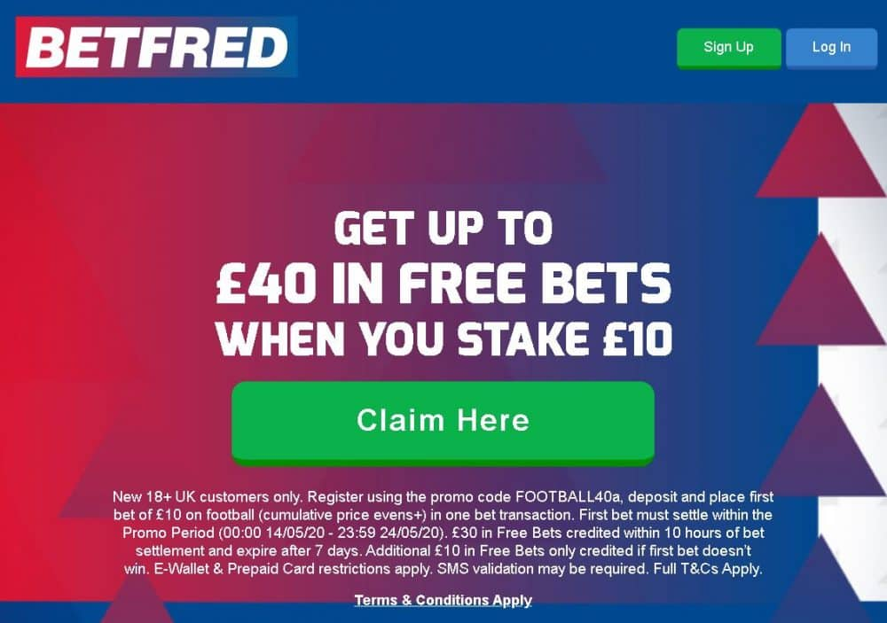 Betfred sign-up bonus