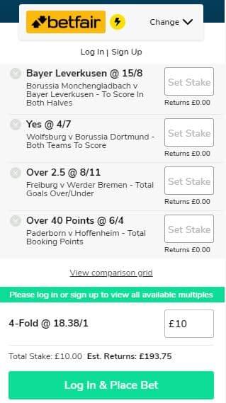 Bundesliga accumulator