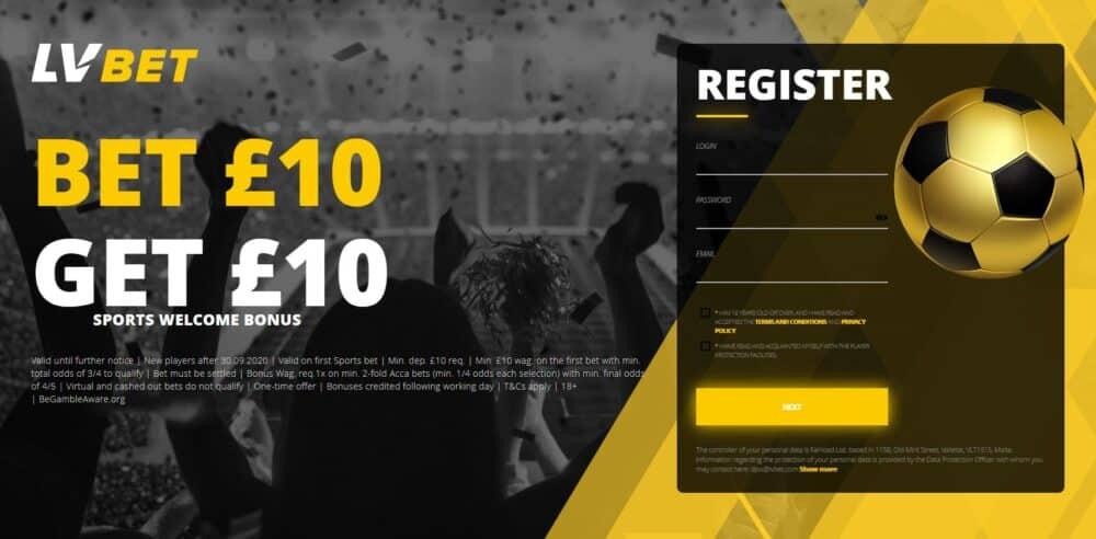 LV bet sign-up offer