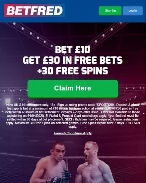 UFC249 free bet