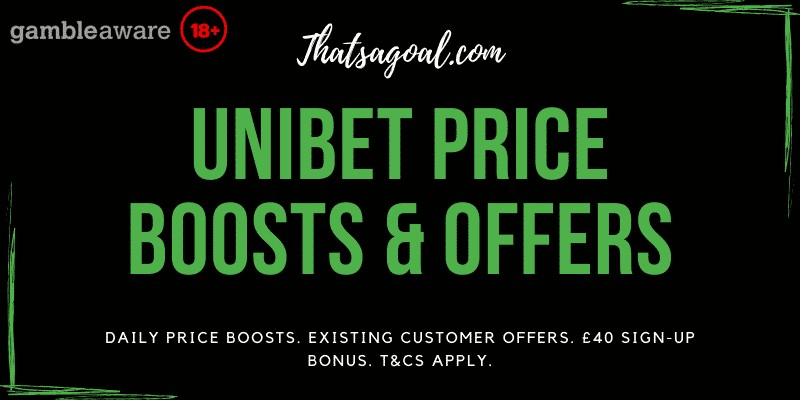 Unibet prie boosts & Offers