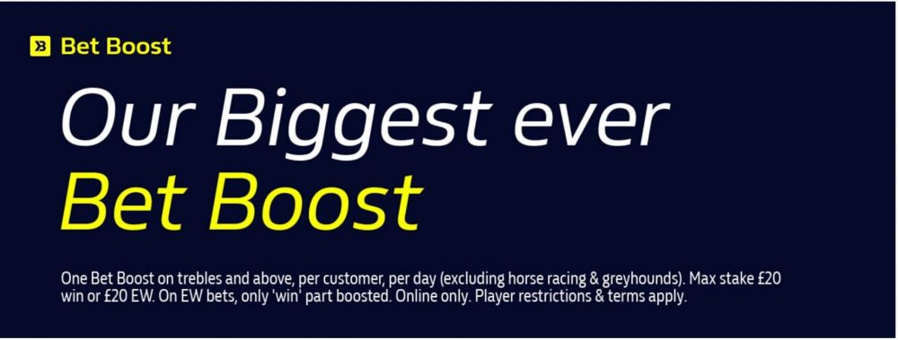 William Hill bet boost