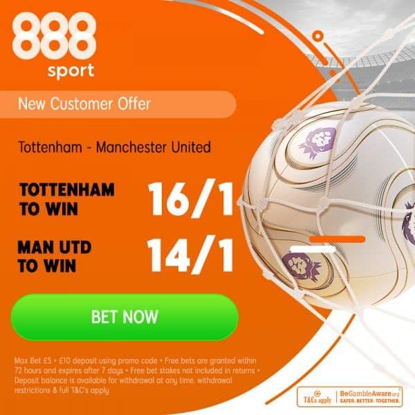 Spurs v Man United price boosts