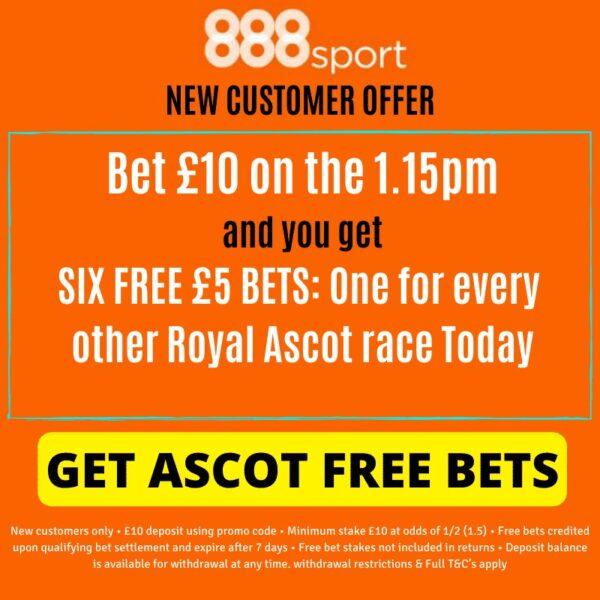 Royal Ascot 888 free bets
