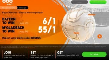 Price Boost – 6/1 Bayern Munich win OR 55/1 Monchengladbach win