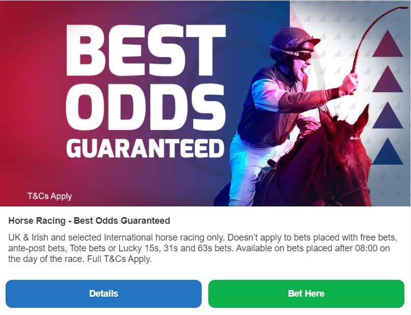 Betfred Best Odds Guaranteed