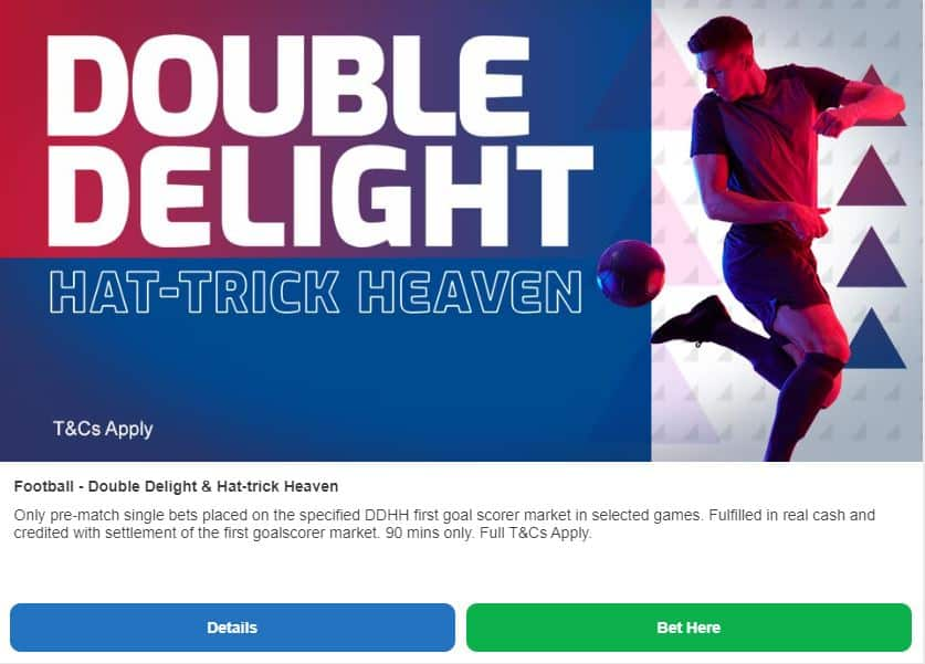 Betfred double delight hat-trick heaven