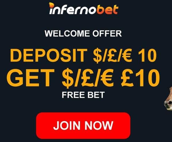 Infernobet free bet