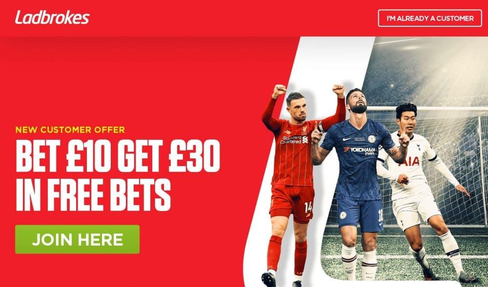 Ladbrokes football free bet