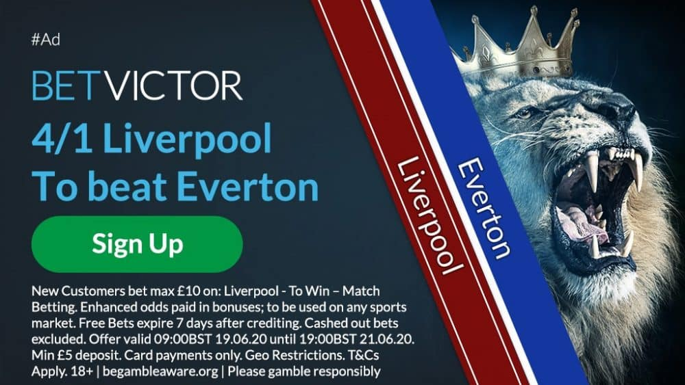 Liverpool to beat Everton odds