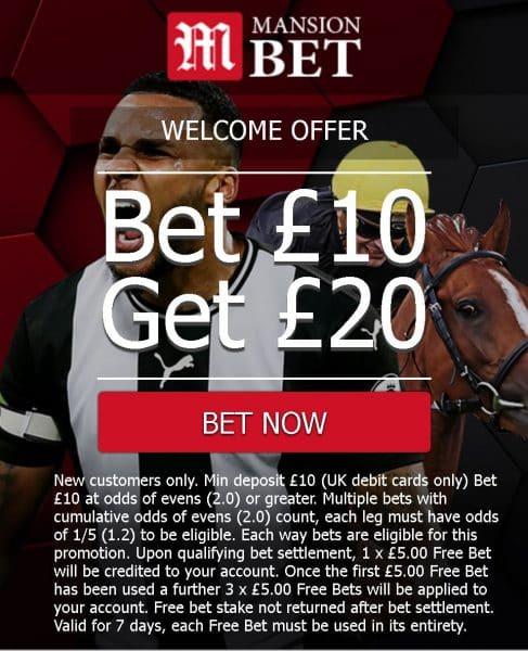 MansionBet free bet offer