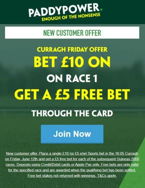 Curragh free bets 2000 Guineas