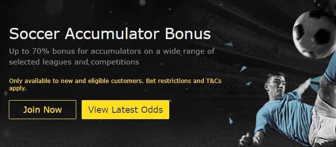 bet365 Soccer Accumulator Bonus