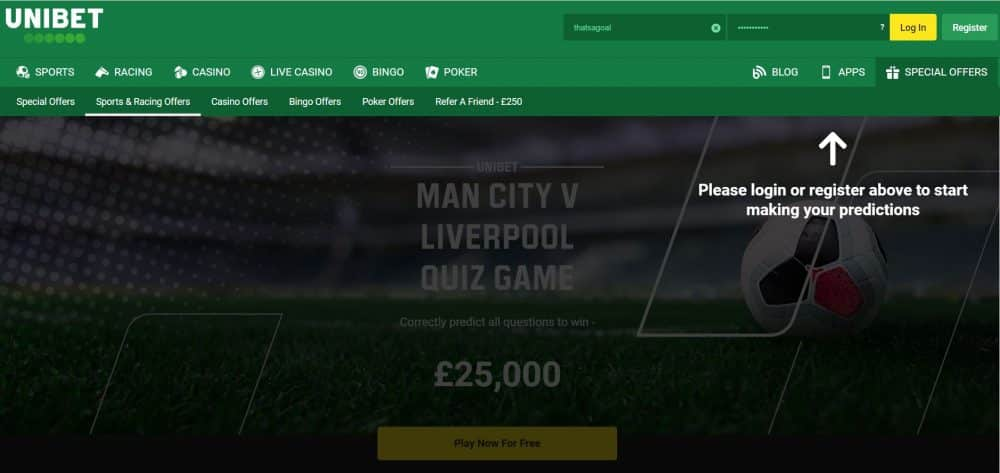 Man City vs Liverpool predictor game