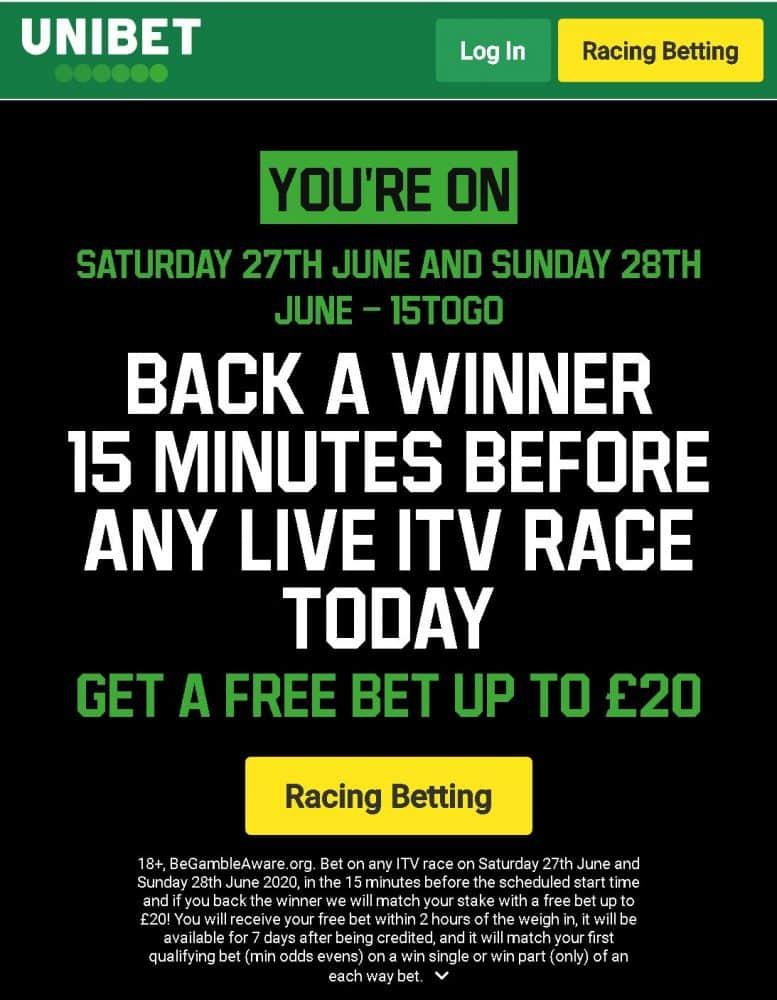 Unibet racing offer